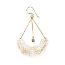 Elementals Organics ORG1638-pair Half-Moon Mandala Carved Mother of Pearl Earrings - Price Per 2