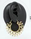 Elementals Organics ORG2002-pair 12g Bronze LOTUS Indonesian Earrings - Price Per 2