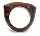 Elementals Organics ORG2064 Approximation Top Finger Ring Solid Sono Wood