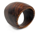 Elementals Organics ORG2067 OVAL Top Finger Ring Solid Sono Wood