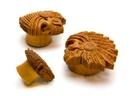 Elementals Organics ORG2091-pair American Indian Head Dress Saba Wood Organic Jewelry - Price Per 2