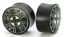 Elementals Organics ORG214 Kayu Areng - Black Wood - Bone Dust Inlay - Ebonne Dust 4-2 Plugs 16mm - 40mm - Price Per 1