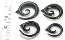 Elementals Organics ORG230 Spiral with Tip Wholesale Organic Body Jewelry from Horn 4mm - 10mm - Price Per 1