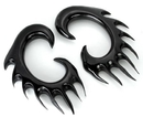 Elementals Organics ORG266-pair Dripping Blood Black Horn Spiral Earrings Body Jewelry - Price Per 2
