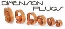 Elementals Organics ORG3012 3D PIGGY on SABA Wood Tunnel 20mm up to 50mm - Price Per 1