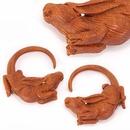 Elementals Organics ORG3015 BUCK n DOE Rabbits Saba Wood Hanger - Price Per 1
