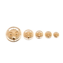 Elementals Organics ORG3034 Gold Plated Brass Owl Insert Only - Price Per 1