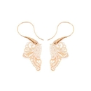 Elementals Organics ORG3039-pair 16g Mother of Pearl Filigree Gold Plated Brass Earrings - Price Per 2