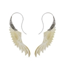 Elementals Organics ORG3046-pair 18g Freedom Ryder Mother of Pearl Silver Plated Earrings - Price Per 2