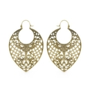 Elementals Organics ORG3064-pair 18g Brass Crosshatched Leaf Earrings - Price Per 2