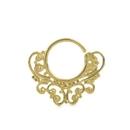 Elementals Organics ORG3075 18g Bendable 18k Gold Plated Filigree Septum Ring