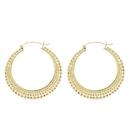 Elementals Organics ORG3079-pair 18g Gold Plated Tribal Hoop Earrings - Price Per 2