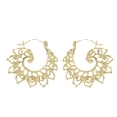 Elementals Organics ORG3080-pair 18g Gold Plated Lotus Wave Earrings - Price Per 2