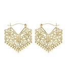 Elementals Organics ORG3081-pair 18g Gold Plated Tribal Chevron Earrings - Price Per 2
