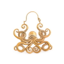 Elementals Organics ORG3082-pair 18g All-Seeing Octopus Polished Brass Earrings - Price Per 2