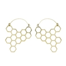 Elementals Organics ORG3089-pair 18g Save the Bees Polished Brass Earrings - Price Per 2