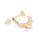 Elementals Organics ORG3095-pair 18kt Gold Plated Brass Lotus Petal Earrings - Price Per 2