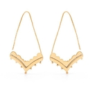 Elementals Organics ORG3101-pair 18g Boho Bell-Shaped Earrings with Beaded Ornament - Price Per 2