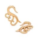 Elementals Organics ORG3102-pair Triple Spiral Brass Ear Hangers - 6mm Thick - Price Per 2