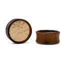 Elementals Organics ORG3125 Hammered Disc Sono Wood Plug - Price Per 1