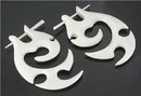 Elementals Organics ORG314-pair Wholesale Organic Body Jewelry Bone Pick Earrings, pirce for one pair