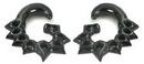 Elementals Organics ORG332-pair Tear Drop Black Horn Spiral Earrings Body Jewelry - Price Per 2