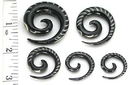 Elementals Organics ORG338 Spinal Inlay Spiral Horn Organic Wholesale Body Jewelry - Price Per 1