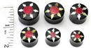 Elementals Organics ORG341 Mother of Pearl STAR with Red Coral Inlay Horn Plug Wholesale Organic Ear Jewelry - Price Per 1