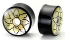 Elementals Organics ORG401 Mother of Pearl Flower Hollow Horn Organic Double Flare Eyelet 10mm - 24mm - Price Per 1