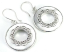 Elementals Organics ORG440-pair Mother of Pearl Round Design # 2 with .925 Sterling Silver - Earrings - Price Per 2
