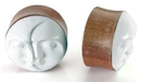 Elementals Organics ORG451 Sun and Moon Organic Plug on Saba Wood 10mm-25mm - Price Per 1