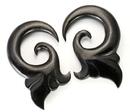 "Elementals Organics ORG460 Simplicity Hanger Black Wood Organic Body Jewelry 4mm - 1/2"" - Price Per 1"