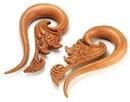 Elementals Organics ORG461 Saba Wood IMPERIAL Organic Body Jewelry 4mm - 12mm - Price Per 1