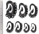 Elementals Organics ORG532 BABY DRAGONS TAIL Wholesale Horn Hanger Organic Body Jewelry 12g - 00g - Price Per 1