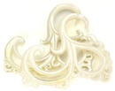 Elementals Organics ORG555-pair Flowing Mother of Pearl Hanger - 4mm to 6mm - Price Per 2