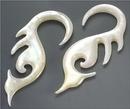 Elementals Organics ORG563 Mother of Pearl SEA MONKEYS Intricate Hanger Organic Jewelry - 2mm-8mm - Price Per 1