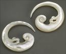 Elementals Organics ORG568-pair Mother of Pearl Murugan Spiral Hanger - 2mm to 8mm - Price Per 2