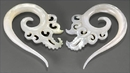 Elementals Organics ORG574-pair Mother of Pearl Thorn Hanger - 2mm to 8mm - Price Per 2