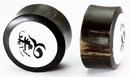 Elementals Organics ORG606 CAPRICORN Black Wood Organic Ear Jewelry 12mm - 31mm - Price Per 1
