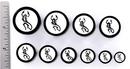 Elementals Organics ORG614 PISCES Black Wood Organic Zodiac Ear Jewelry 12mm - 31mm - Price Per 1