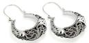 Elementals Organics ORG648-pair .925 Sterling Silver 16g Bali Drop SIRENS Earrings - Price Per 2