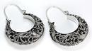 Elementals Organics ORG651-pair .925 Sterling Silver 16g Bali Drop PAPHOS Earrings - Price Per 2
