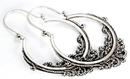 Elementals Organics ORG652-pair .925 Sterling Silver 16g Bali Drop ASCLEPIUS Earrings - Price Per 2