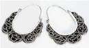 Elementals Organics ORG653-pair .925 Sterling Silver 16g Bali Drop RAKSASA Earrings - Price Per 2