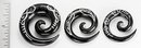 Elementals Organics ORG704 Horn Spiral with Myan SILVER INLAY Organic Body Jewelry - 6mm - 10mm - Price Per 1