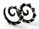 Elementals Organics ORG707 EVOLUTION OF Wholesale Horn Tatoo Spirals Organic Body Jewelry 12g - 00g - Price Per 1