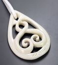 Elementals Organics ORG736 Intertwined Pendant # 16 Bone Pendant with Intricate Carving - Price Per 1