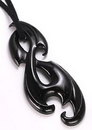 Elementals Organics ORG745 GOTHIC Organic Pendant # 26 HORN Pendant with Intricate Carving - Price Per 1