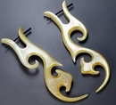 Elementals Organics ORG780-pair Mother of Pearl Dancing Silhouette Hanger Organic Jewelry - Price Per 2