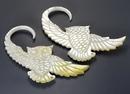 Elementals Organics ORG881-pair OWL Mother of Pearl Organic Jewelry - 2mm - 9.5mm - Price Per 2